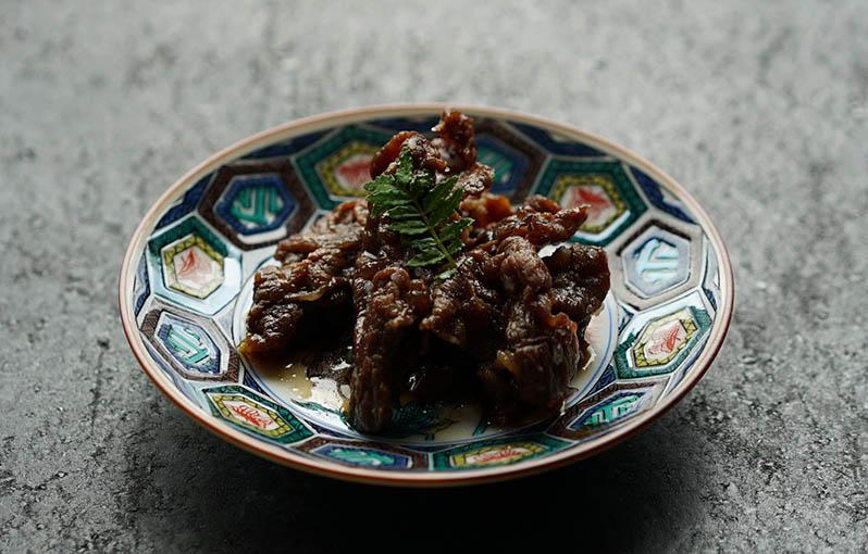 牛肉しぐれ煮の具材写真です。